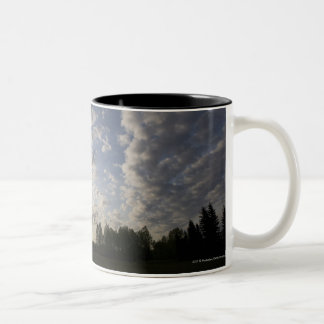 Horizon Sky View with Clouds Two-Tone Coffee Mug