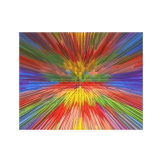 Horizon Skyview Rainbow Colors Cheerful GIFTS FUN Gallery Wrapped Canvas