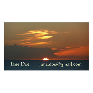 Horizon Sunset Colorful Seascape Photography Pack Of Standard Business Cards