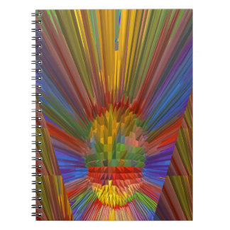 Horizon Sunset Golden Sparkles DIY Gifts COLORFUL Spiral Note Book
