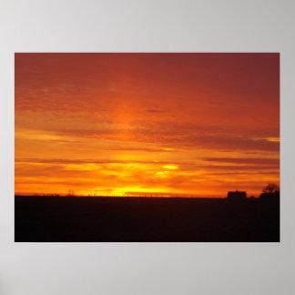 Horizon Sunset Poster