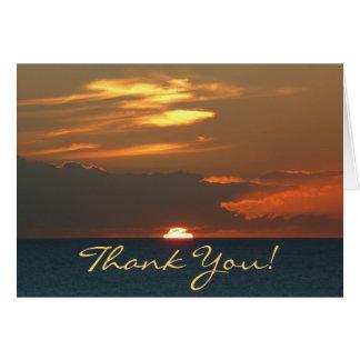 "Horizon Sunset ""Thank You"" Greeting Card"