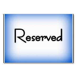 "Horizontal 3.5"" x 5"" Tablecard, Basic ""Reserved"" Card"