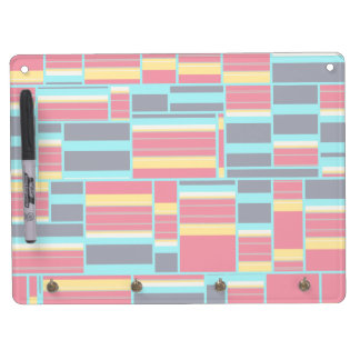 Horizontal and vertical stripes dry erase whiteboards