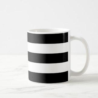 Horizontal Black Stripes Basic White Mug