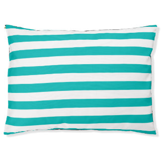 Horizontal Black Stripes Pet Bed