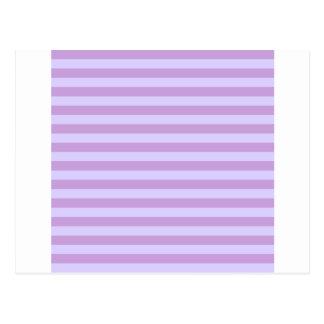 Horizontal BroadStripes-Wisteria and Pale Lavender Postcard