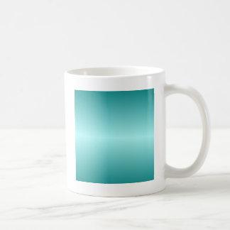 Horizontal Celeste and Teal Gradient Coffee Mug