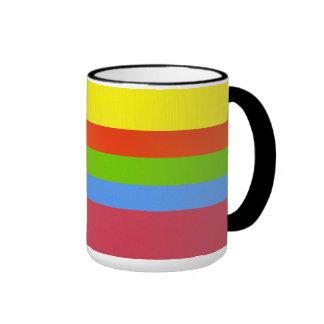 Horizontal colored stripes mug