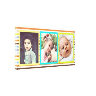 Horizontal custom photo x3 frame canvas print