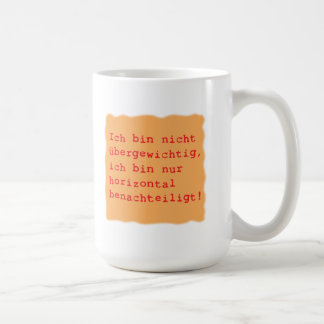 horizontal disadvantages basic white mug