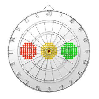 Horizontal Dot Stoplight Colors Dartboard