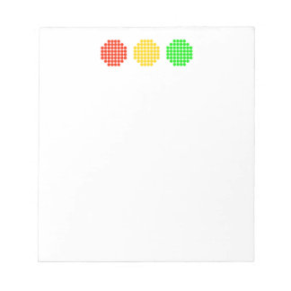 Horizontal Dot Stoplight Colors Notepad
