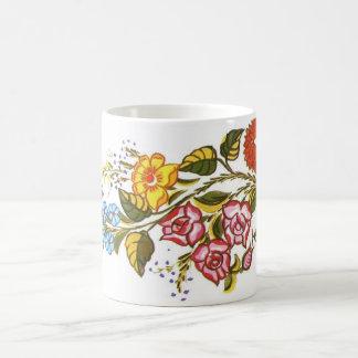 horizontal flowers coffee mug