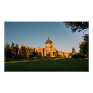 Horizontal Front View Capital Dome Helena Montana Poster