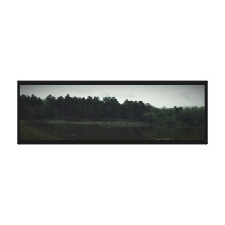 Horizontal Lake Veiw Wrapped Canvas Stretched Canvas Prints