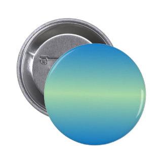Horizontal Light Moss Green and True Blue Gradient Pinback Buttons