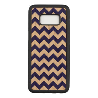 Horizontal Navy and Transparent Zigzag Carved Samsung Galaxy S8 Case