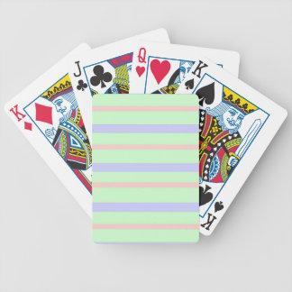 Horizontal Pastel Stripes Bicycle Playing Cards