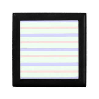 Horizontal Pastel Stripes Gift Box