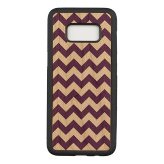 Horizontal Purple and Transparent Zigzag Carved Samsung Galaxy S8 Case