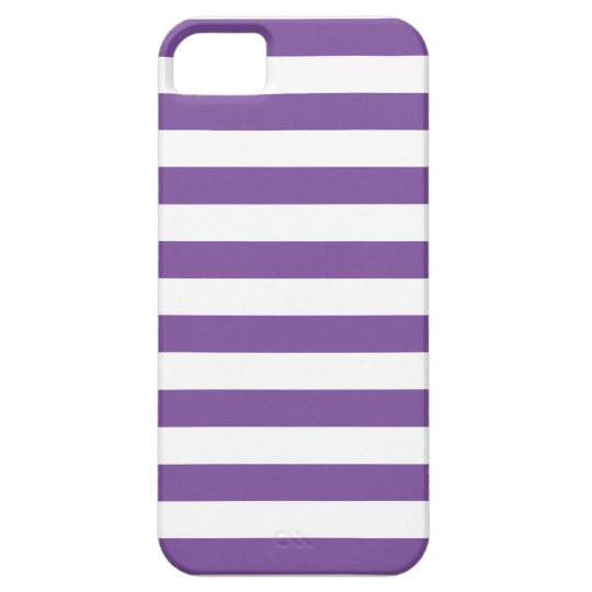 Horizontal Purple Stripes Barely There iPhone 5 Case