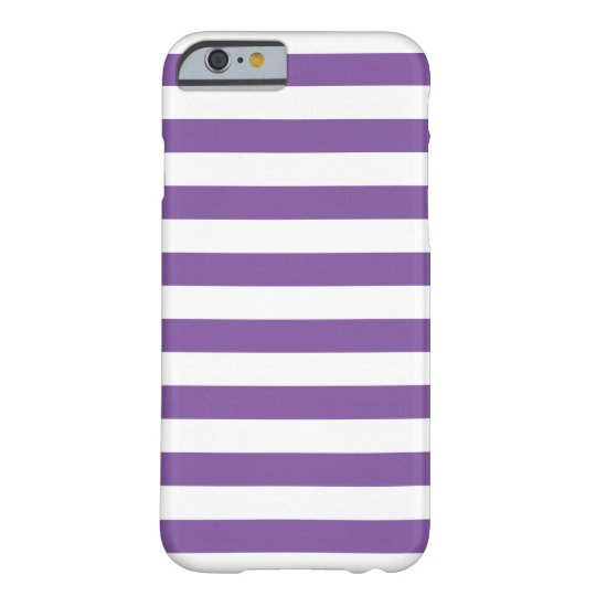 Horizontal Purple Stripes Barely There iPhone 6 Case
