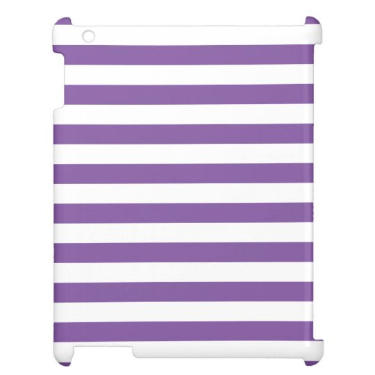 Horizontal Purple Stripes Cover For The iPad