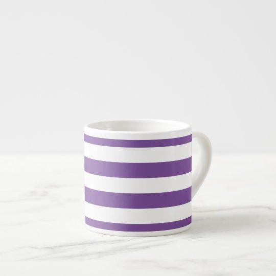 Horizontal Purple Stripes Espresso Cup