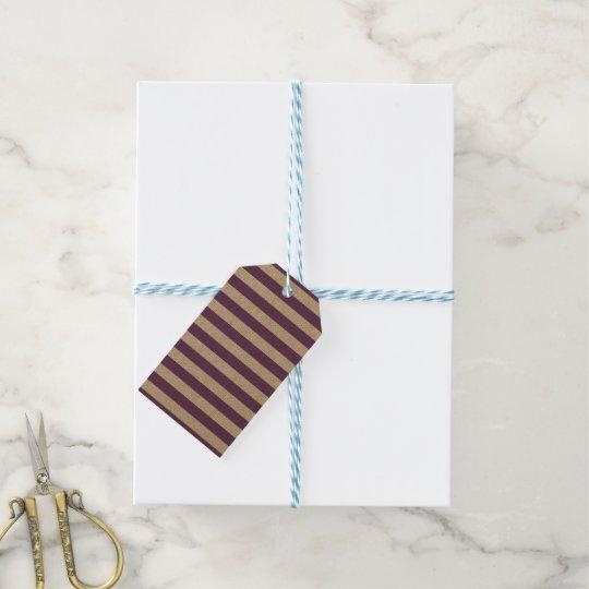 Horizontal Purple Stripes Gift Tags