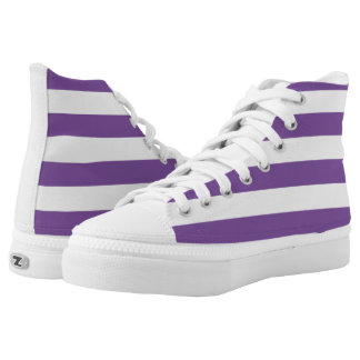 Horizontal Purple Stripes High Tops