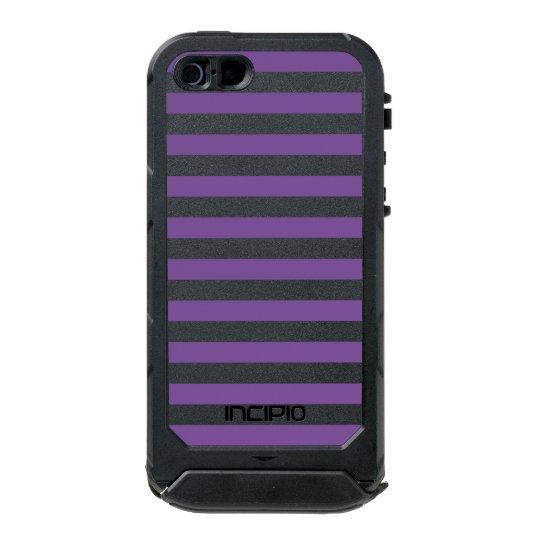 Horizontal Purple Stripes Incipio ATLAS ID™ iPhone 5 Case