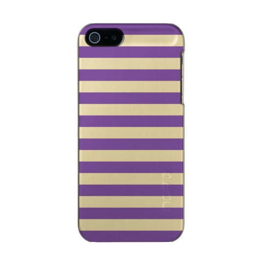 Horizontal Purple Stripes Incipio Feather® Shine iPhone 5 Case
