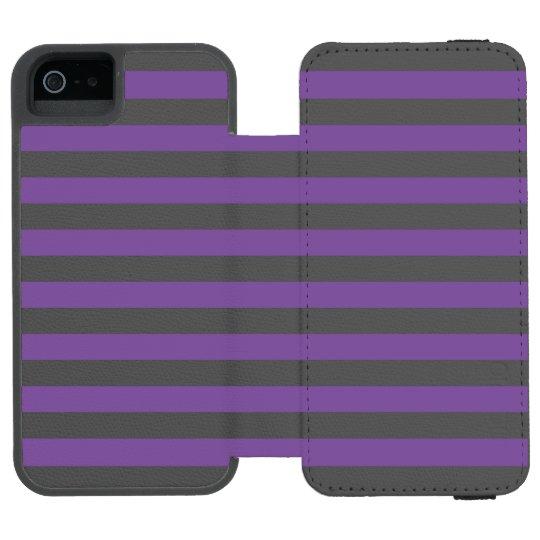 Horizontal Purple Stripes Incipio Watson™ iPhone 5 Wallet Case