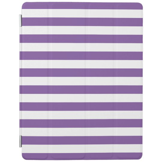 Horizontal Purple Stripes iPad Cover