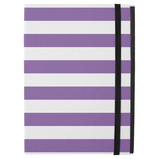 "Horizontal Purple Stripes iPad Pro 12.9"" Case"