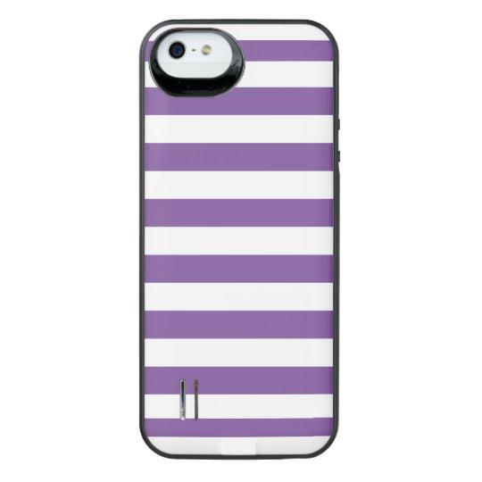 Horizontal Purple Stripes iPhone SE/5/5s Battery Case