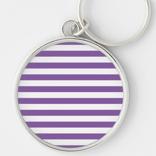 Horizontal Purple Stripes Key Ring