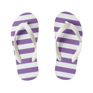 Horizontal Purple Stripes Kid's Thongs