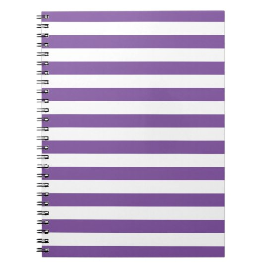 Horizontal Purple Stripes Notebook