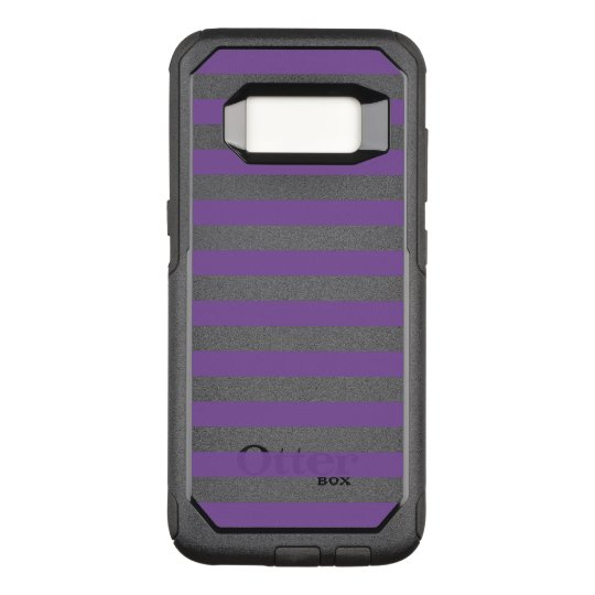 Horizontal Purple Stripes OtterBox Commuter Samsung Galaxy S8 Case
