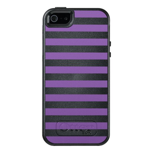 Horizontal Purple Stripes OtterBox iPhone 5/5s/SE Case