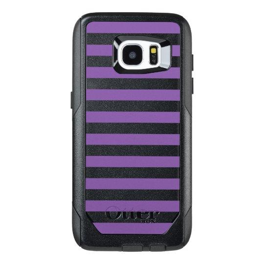 Horizontal Purple Stripes OtterBox Samsung Galaxy S7 Edge Case