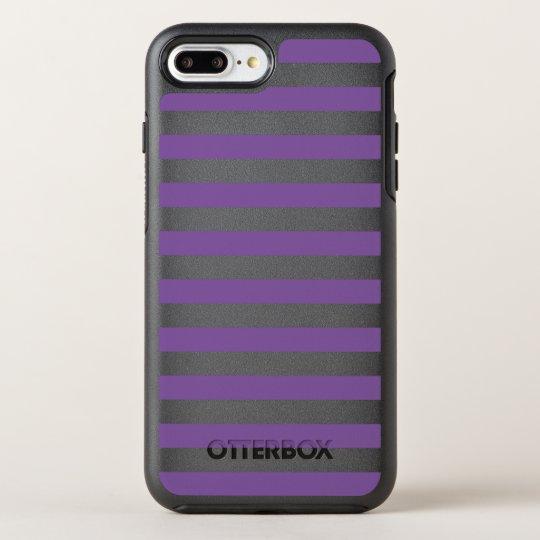 Horizontal Purple Stripes OtterBox Symmetry iPhone 8 Plus/7 Plus Case