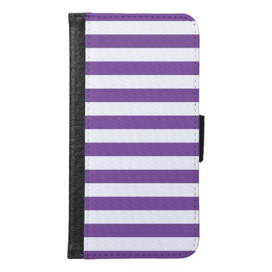 Horizontal Purple Stripes Samsung Galaxy S6 Wallet Case