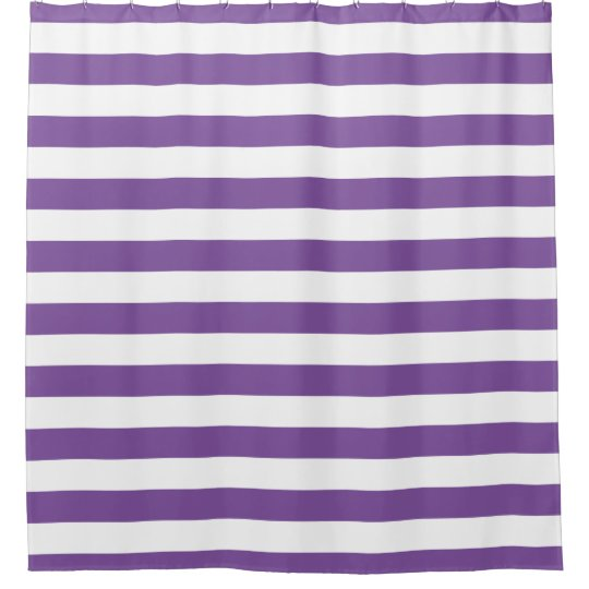Horizontal Purple Stripes Shower Curtain