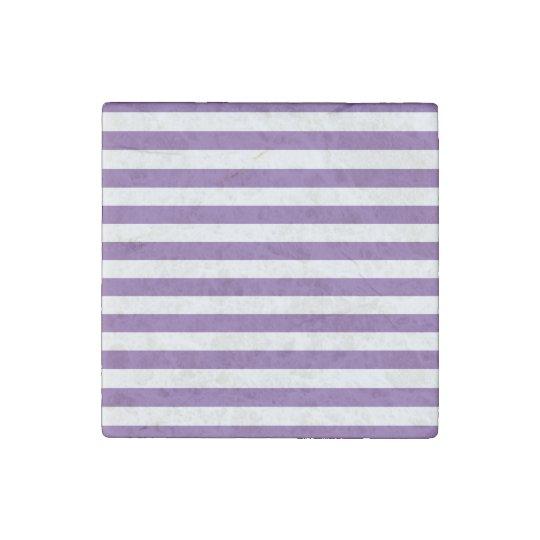 Horizontal Purple Stripes Stone Magnet