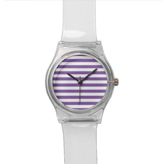 Horizontal Purple Stripes Watch