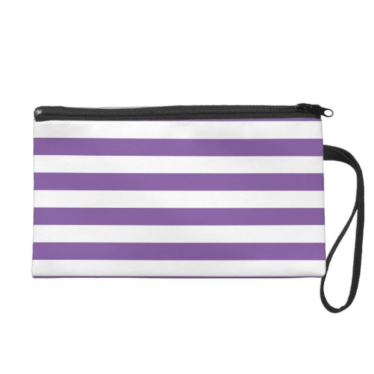 Horizontal Purple Stripes Wristlet