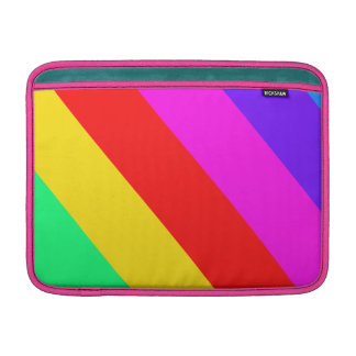 Horizontal Rainbow Stripe Pattern MacBook Air Sleeves